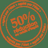 50% reduction d'impôt